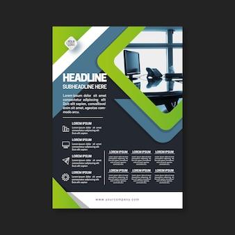 Professionelle business flyer vorlage