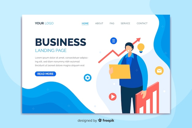 Professionelle business-landingpage