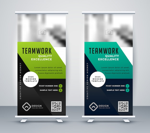 Professionelle co-corporate business rollup banner