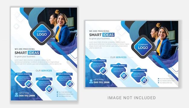 Professionelle corporate business flyer design-vorlage