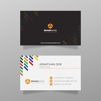 Professionelle corporate visitenkarte vorlage bunte visitenkarte vektor vorlagendesign