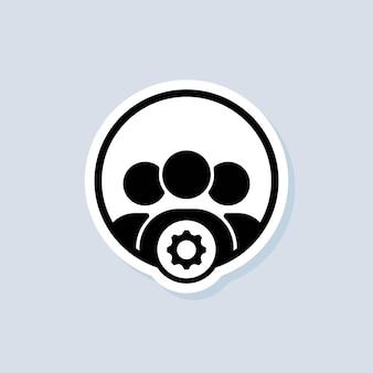 Professionelle dienstleistungen mit einstellungssymbolzeichen. einrichten, verwalten, verwalten. symbole für die zahnradeinstellungen. vektor auf isoliertem hintergrund. eps 10.