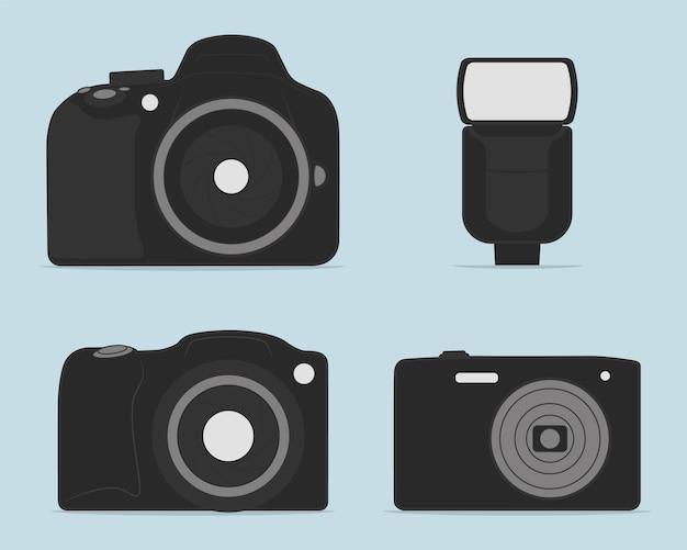 Professionelle dslr-fotokamera-illustration