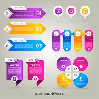 Professionelle farbverlauf infografik