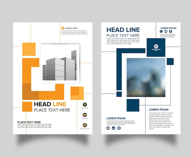 Professionelle flyer design hintergrund vorlage