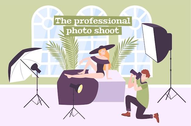 Professionelle fotostudio-illustration