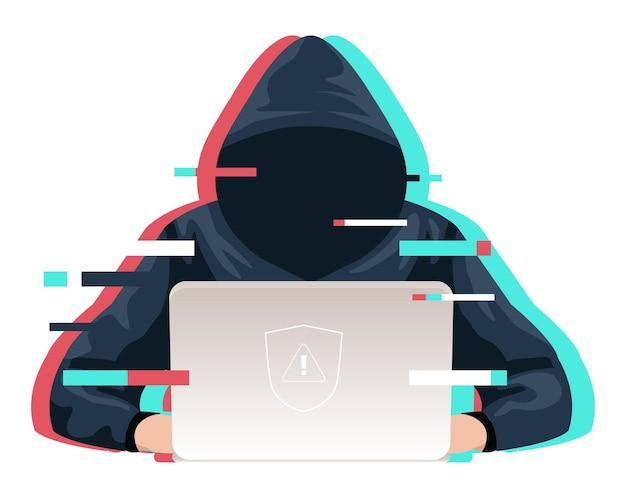 Professionelle hacker verwenden laptops bei der planung von angriffen