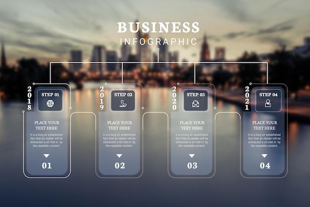 Professionelle infografik mit bild