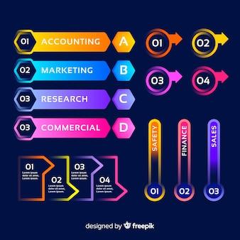Professionelle infografik mit farbverlauf