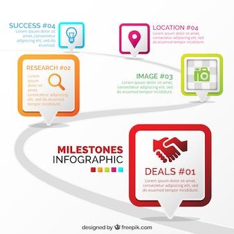 Professionelle infografik mit flachem design