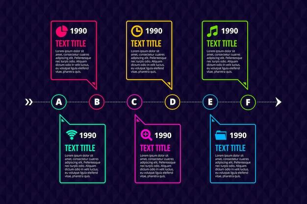 Professionelle infografik-zeitleiste