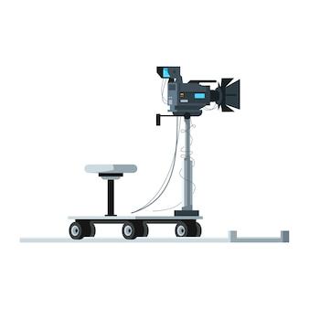Professionelle kamera halbflache rgb-farbe