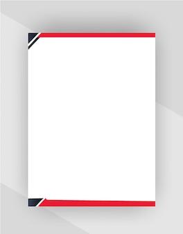 Professionelle kreative briefkopfvorlage auf transparentem hintergrund