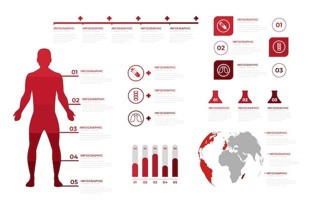 Professionelle medizinische infografik