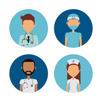Professionelle medizinische leute