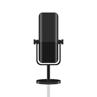 Professionelle mikrofon-symbol-konzept-illustration