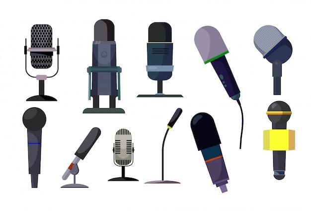 Professionelle mikrofone eingestellt