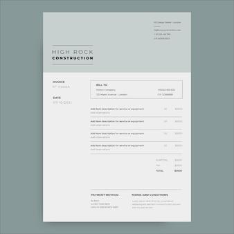 Professionelle minimalistische rechnung für hohe felskonstruktionen