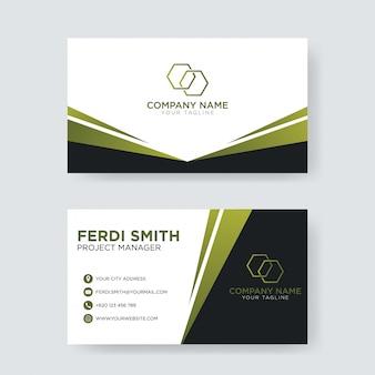 Professionelle minimalistische visitenkarte