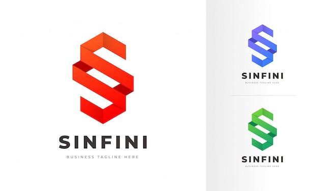 Professionelle moderne s brief logo design vorlage