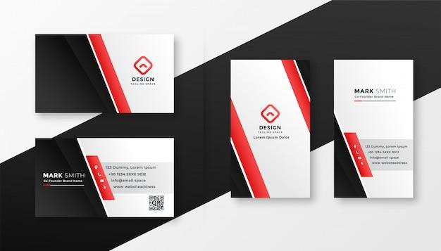 Professionelle rote visitenkarte design