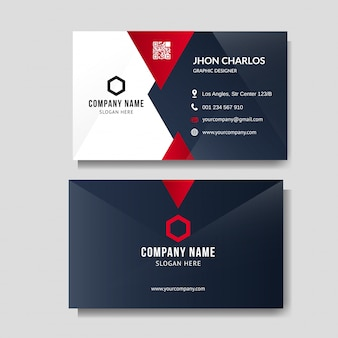 Professionelle rote visitenkarte layout