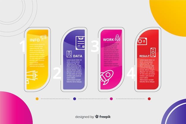 Professionelle schritte infografik
