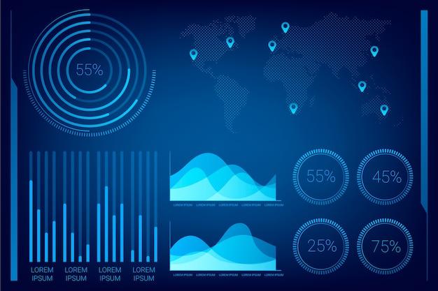 Professionelle technologie-infografik-vorlage