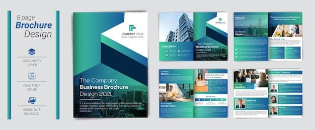 Professionelle und moderne firmenprofilvorlage