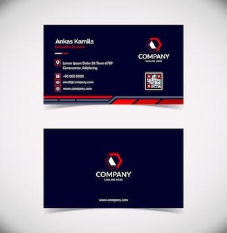 Professionelle und moderne visitenkartenvorlage für unternehmen