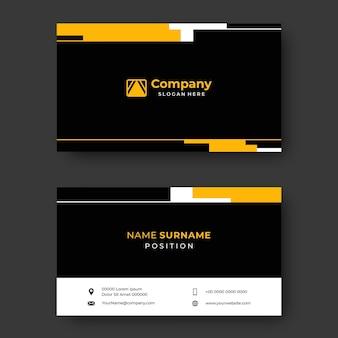 Professionelle visitenkarte schwarz-gelbe vektor-design-vorlage