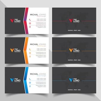 Professionelle Visitenkarten mit Farbverläufen