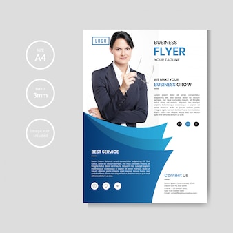 Professioneller corporate business-flyer