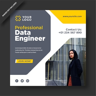 Professioneller data enginer instagram post