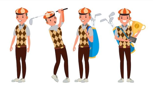 Professioneller golfspieler