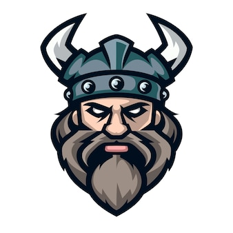 Professioneller logo-wikinger-krieger, sportmaskottchen.