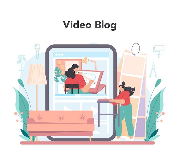 Professioneller online-service für dekorateure oder planung von plattformdesignern