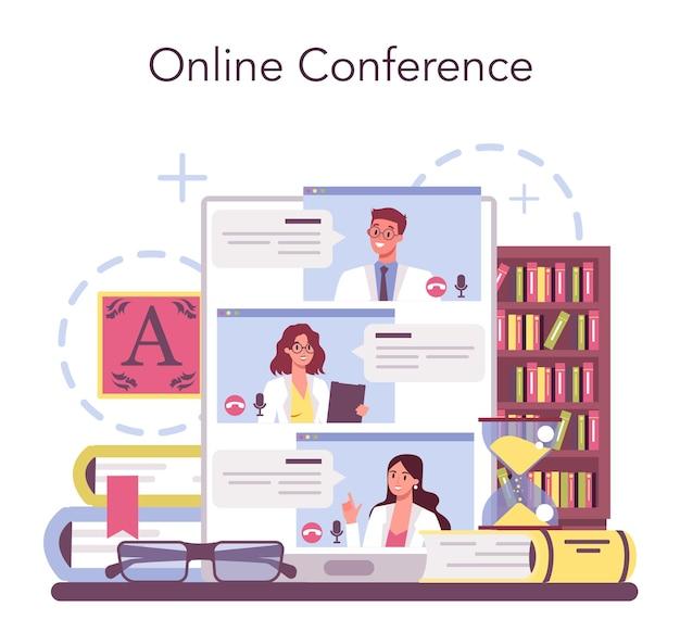 Professioneller online-service oder plattform für literaturwissenschaftler