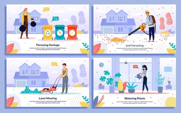 Professioneller reinigungsservice banner