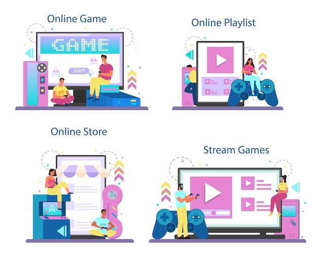 Professioneller spieler-onlinedienst oder plattformsatz