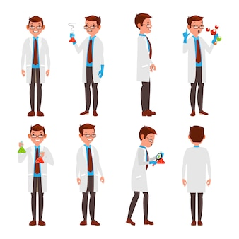 Professioneller wissenschaftler-zeichensatz