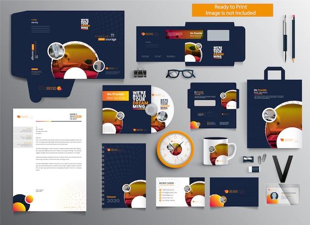 Professionelles business branding briefpapier set