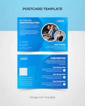 Professionelles corporate postcard design