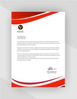 Professionelles design für offizielle briefkopfvorlagen für ihr unternehmen