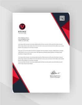 Professionelles design von briefkopfvorlagen für unternehmen