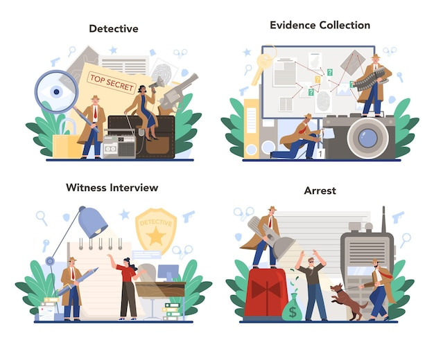 Professionelles detektiv-konzeptset