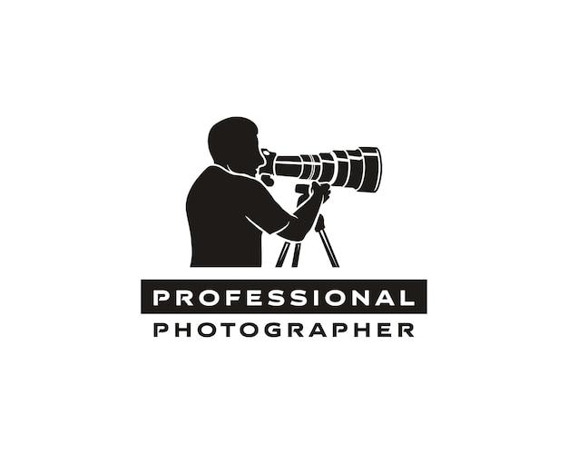 Professionelles fotografenlogo kreative fotografie logo-design für fotografen oder inhaltsersteller