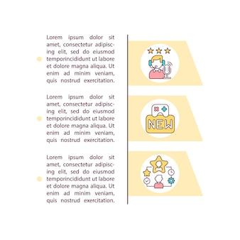 Professionelles personalkonzept-symbol mit textillustration