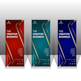 Professionelles roll-up-banner
