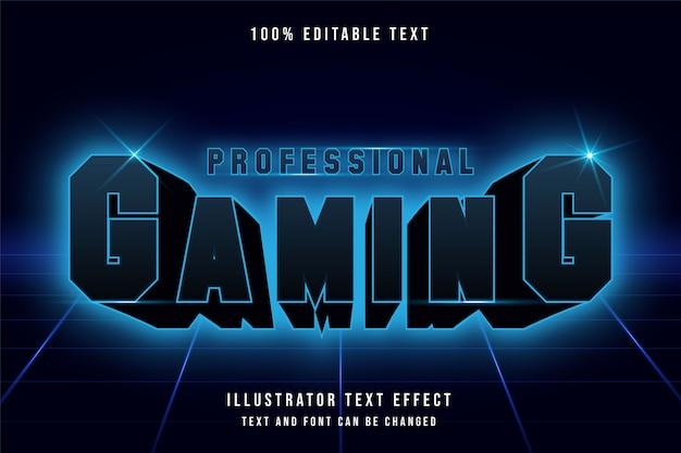Professionelles spielen, 3d-bearbeitbarer texteffekt.